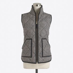 J crew quilted printed vest